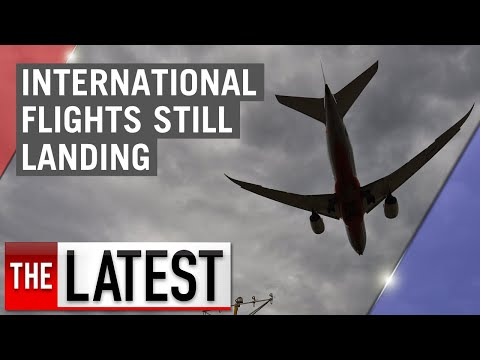 Coronavirus: International Flights Still Arriving In Australia | 7NEWS
