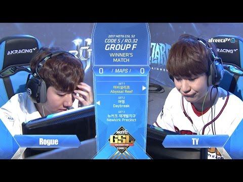 [2017 GSL Season 2]Code S Ro.32 Group F Match3 TY vs Rogue