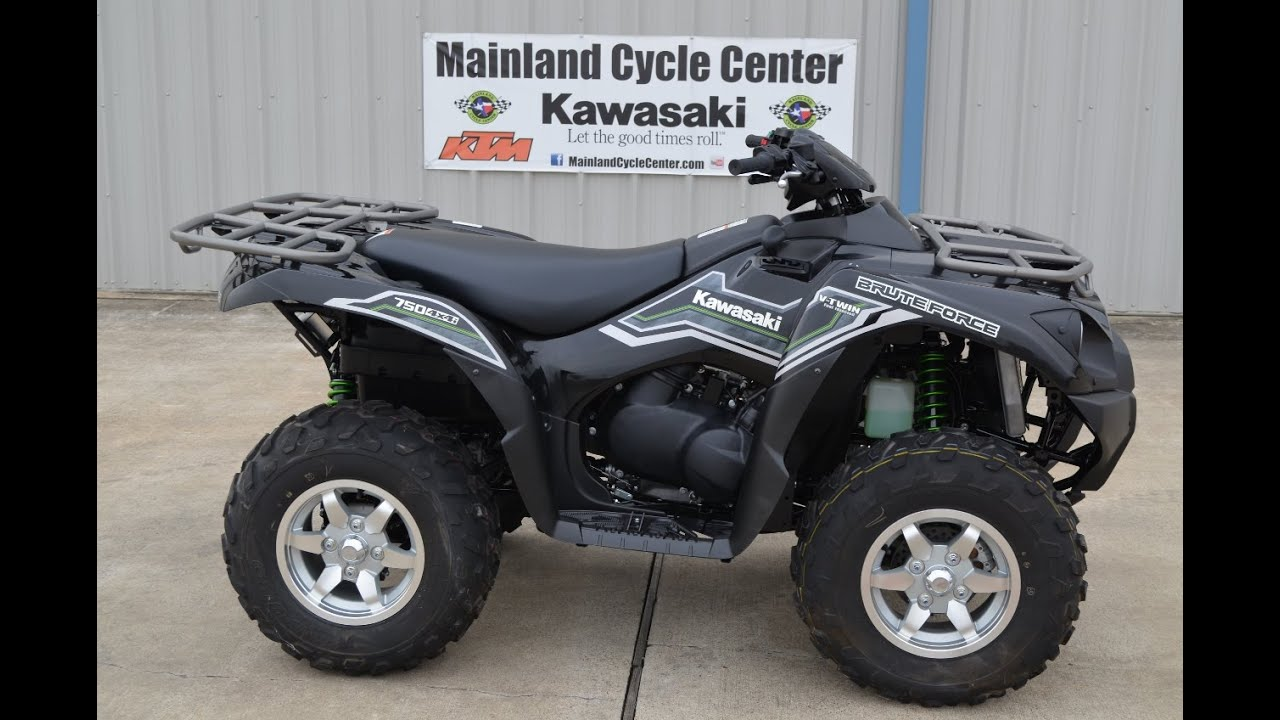 medium resolution of  9 999 2015 kawasaki brute force 750 eps black overview and review youtube