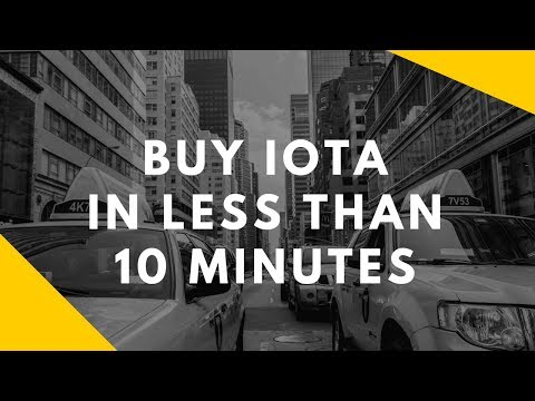 Buy IOTA in less than 10 minutes (with Coinbase & Binance)