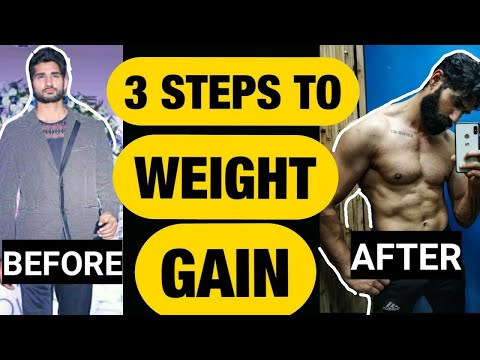 3 Steps To Weight Gain Fast Naturally In A Month In Hindi | Diet, Supplements Needed To Weight Gain