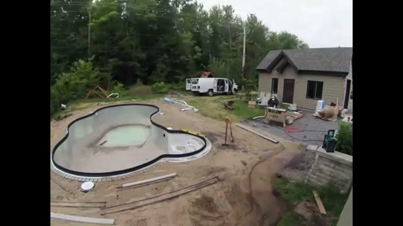 Timelapse construction de piscine creus jour 1  8 swimmingpool piscina techada  YouTube