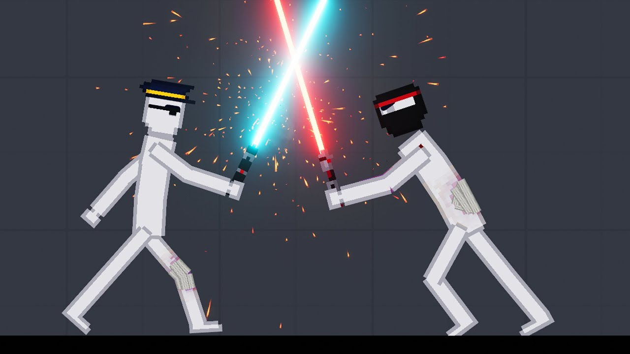 Humans Fight With Lightsabers In People Playground Vol.1