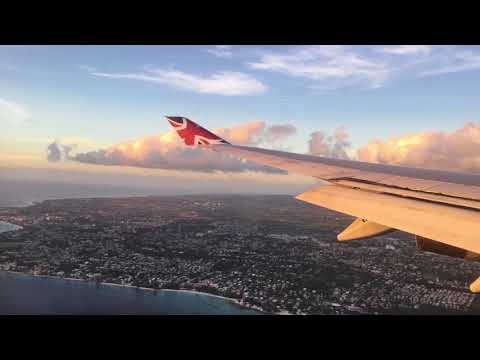 Approach and landing at Grantley Adams airport Barbados