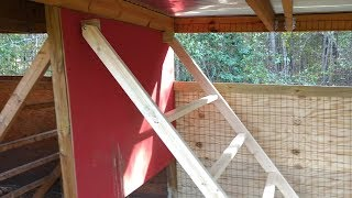 Adding more roosting space to the chicken coop.