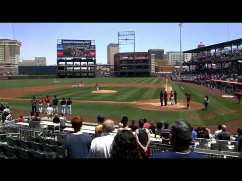 El Paso Chihuahuas Baseball Stadium Game Entrance and Opening Ceremony (Google Glass)