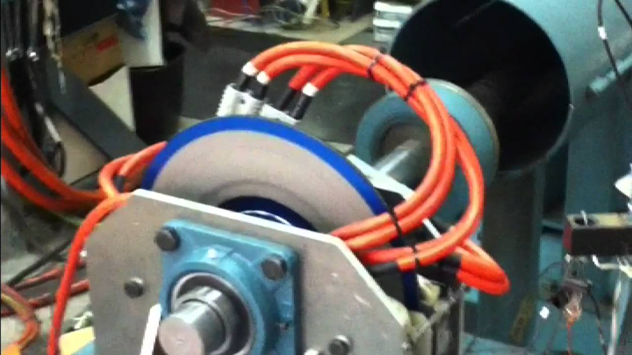 1,250 Nm Axial Flux 3 phase AC Induction EV Wheel Motor Dyno Test
