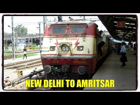 Full Journey compilation 12459 New Delhi Amritsar Intercity Exp. / Night overtake, Bridges & more.