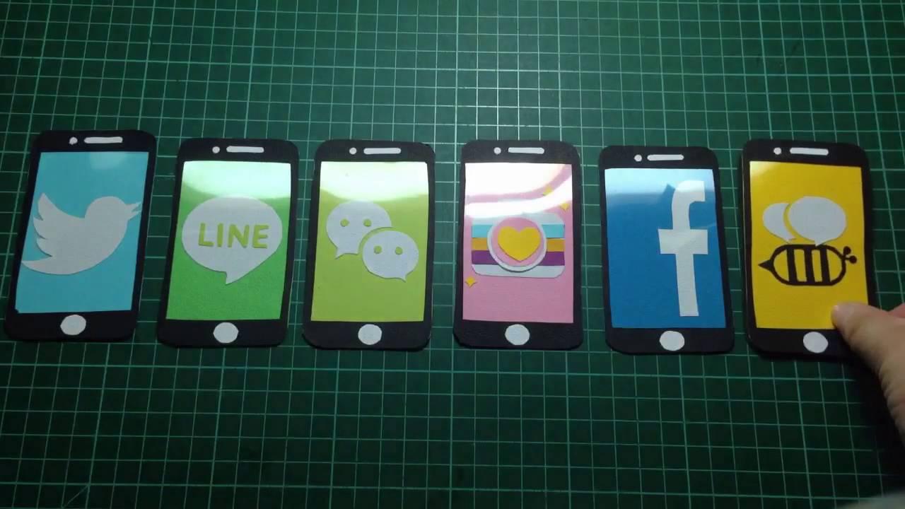iPhone app 手機卡片教學 膠捲卡片 手工卡片 萬用卡片 情人節卡片 父親節卡片 手工DIY (Facebook beetalk wechat line ...