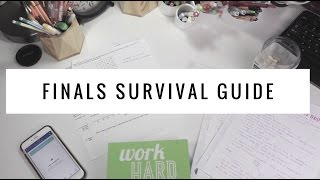 Finals Survival Guide | How to ACE Your Finals + My Study Hacks!!