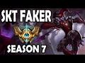 FAKER plays SHACO JUNGLE vs MASTER GRAVES Korea Season 7