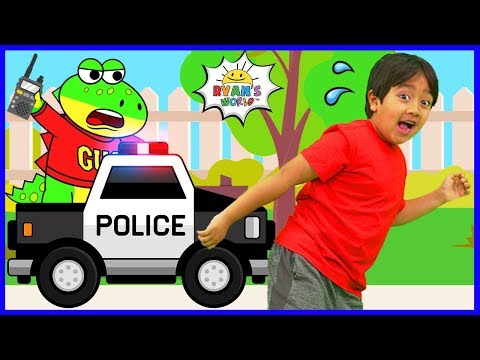 Ryan learns about Police Officers with Gus the Gummy Gator!!!