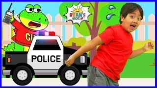Download Ryan learns about Police Officers with Gus the Gummy Gator!!! Mp3 and Videos