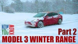 Tesla Model 3 Winter Range PART 2