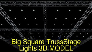 3D Model of Big Square Truss-Stage Lights Review