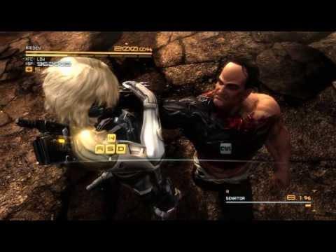 Metal Gear Rising: Revengeance - Senator Armstrong, Boss fight (No damage, S-Rank, Revengeance). |