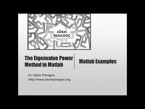 The Eigenvalue Power Method Algorithm in Matlab
