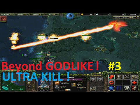 DotA 6.83d - Traxex, Drow Ranger Beyond GODLIKE ! #3 ( ULTRA KILL)