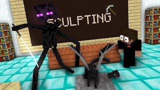 - Monster School Sculpting Minecraft Animation