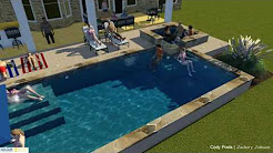 The Austin Geometric Pool - Designed by Zach Johnson - Cody Pools