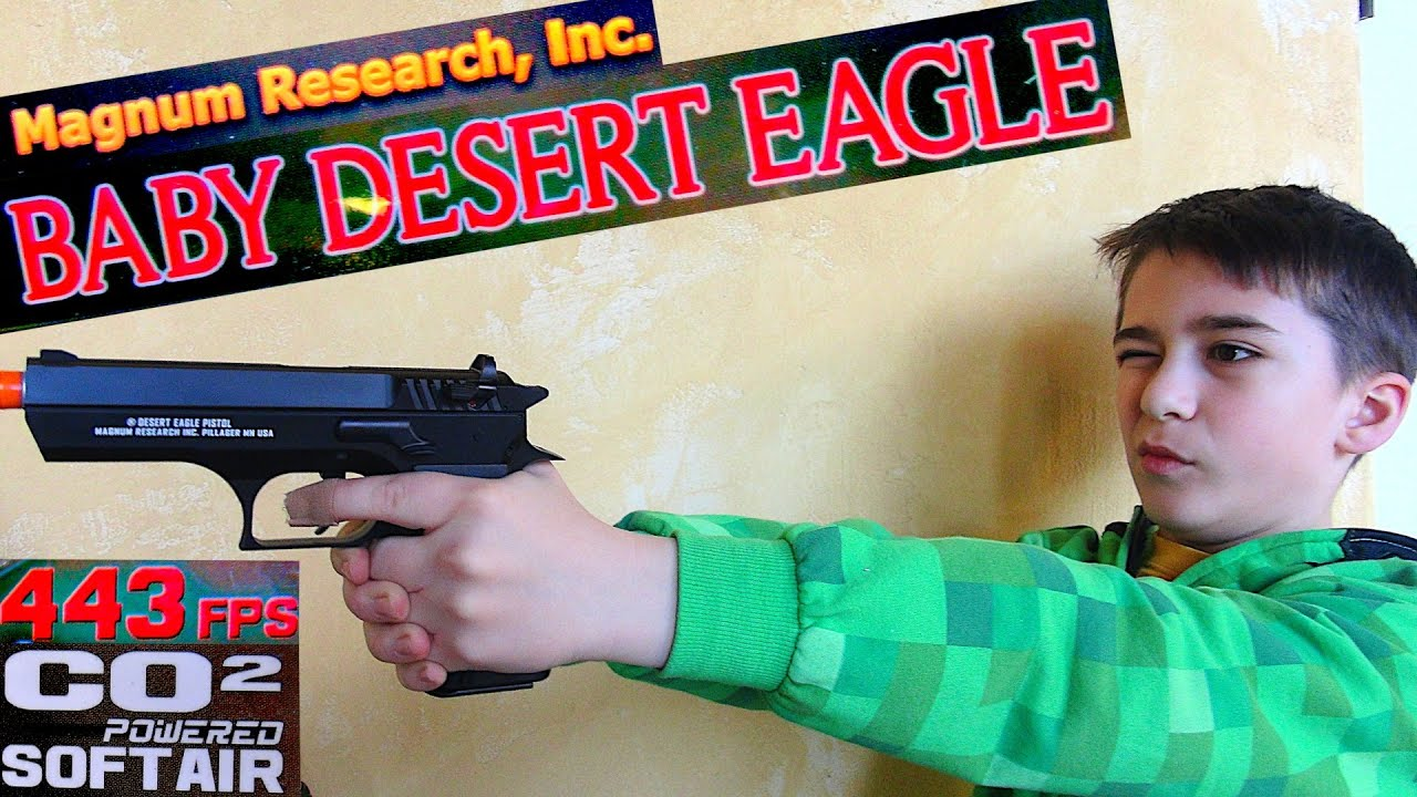 Magnum Research Baby Desert Eagle Airsoft Co2 Pistol With Robert Andre Youtube