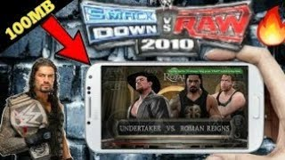 🔥 WWE ( SMACK DOWN VS RAW ) 2010 | HIGHLY COMPRESS | GAME FOR | ANDROID |