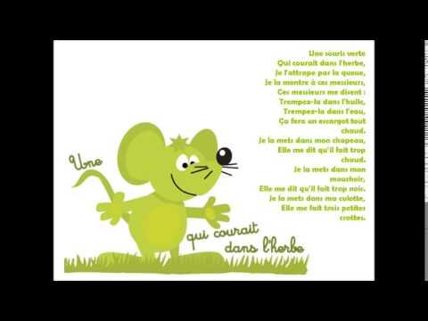Comptine une souris verte comptine avec paroles youtube - Une souris verte singe ...