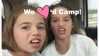 Katie & Annie Say Goodbye to Gymnastics Camp   Katie Gives Pig Face Lessons   Flippin