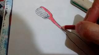 Como dibujar un cepillo de dientes/how to draw cepillo de dientes