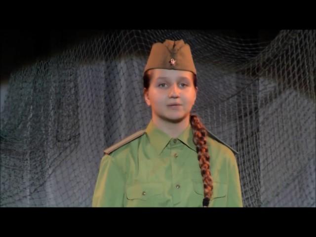 Изображение предпросмотра прочтения – ЕвгенияПолухова читает произведение «Баллада о зенитчицах» Р.И.Рождественского