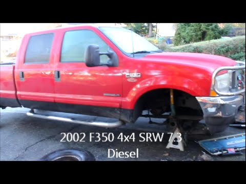F 350 Front End Tear Down Hub Brakes Axle Ball Joints Knuckle