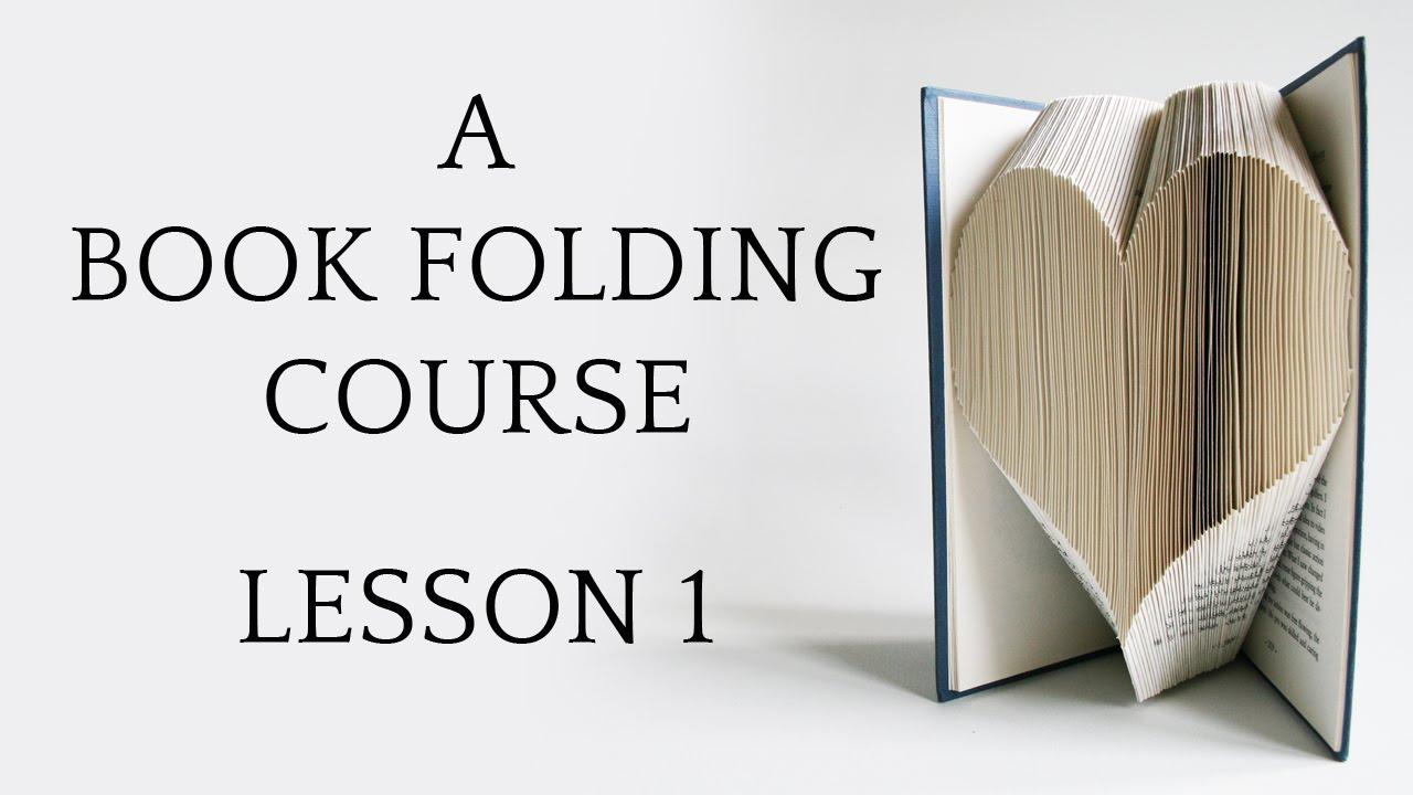 book folding tutorial lesson