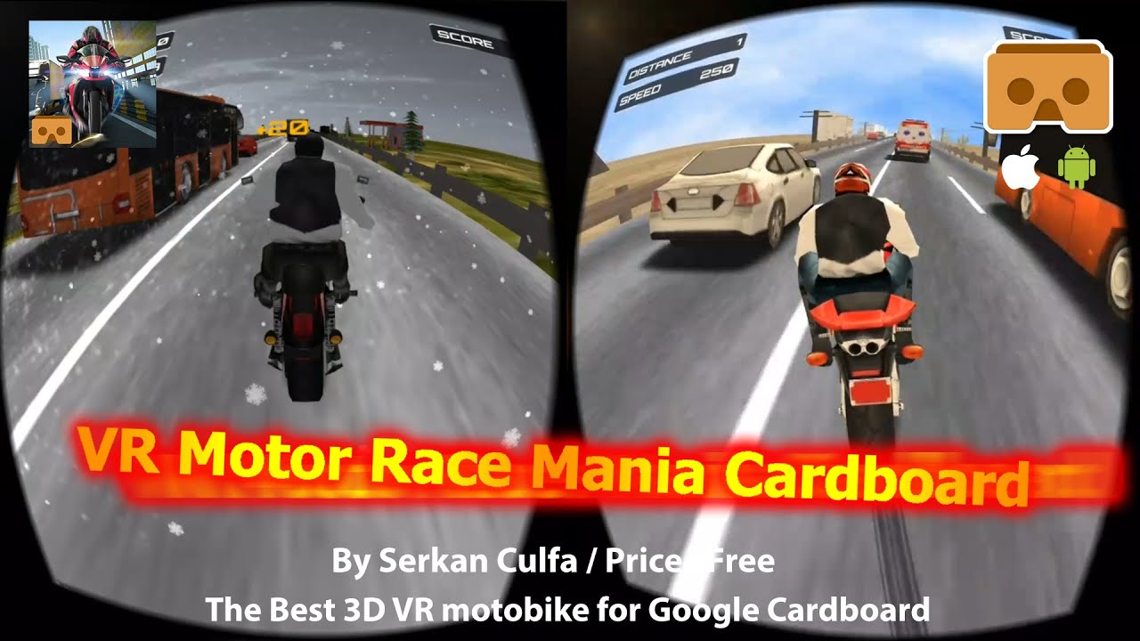 Vr Motor Race Mania Cardboard Best Free Vr 3d Motor Bike For