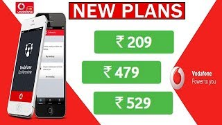 Vodafone Launched New Plans ₹209,₹479 & ₹529 To Beat Jio
