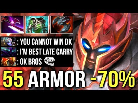 EPIC 55 Armor -70% Damage DK Mid vs Spectre Best Late Game Carry Crazy Pro Gameplay WTF Dota 2