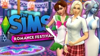 WOOHOO CLUB AT THE ROMANCE FESTIVAL - The Sims 4 Funny Highlights #94