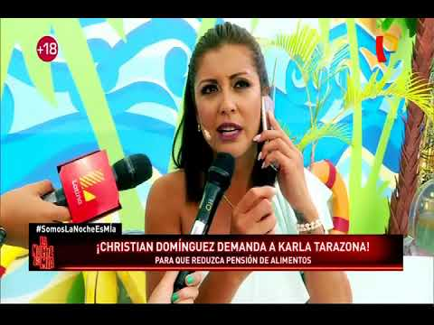 ¡Christian Domínguez demanda a Karla Tarazona!