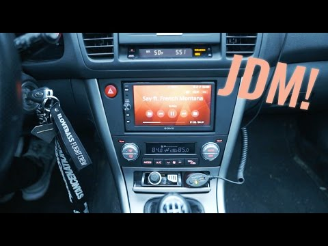 MAKING MY RADIO NOT SUCK! (JDM DOUBLE DIN LEGACY INSTALL)