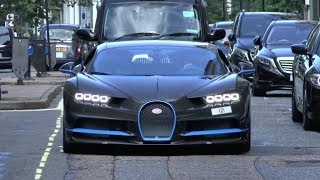 $3 million Carbon Fibre Bugatti Chiron Leaves London!!