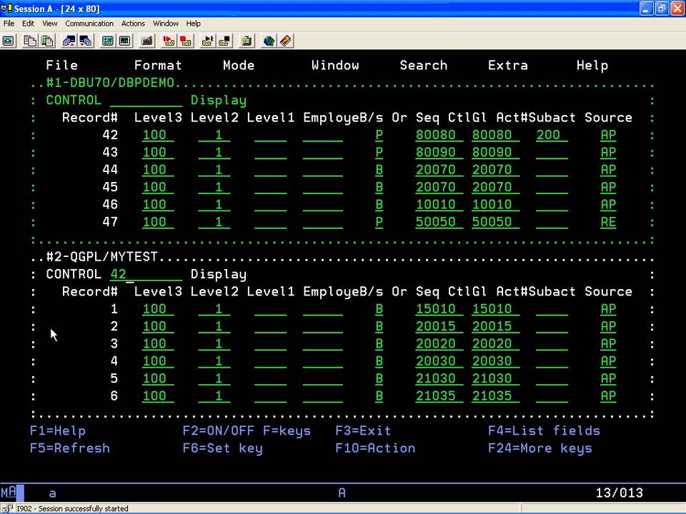 DBU - IBM iSeries (AS400) file editor with remote data access