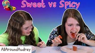 Sweet vs Spicy Food Switch Up Challenge / AllAroundAudrey