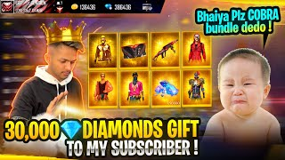 Finally   Buying 30,000 Diamonds And New Cobra Bundle In Subscriber Account Garena Free Fire