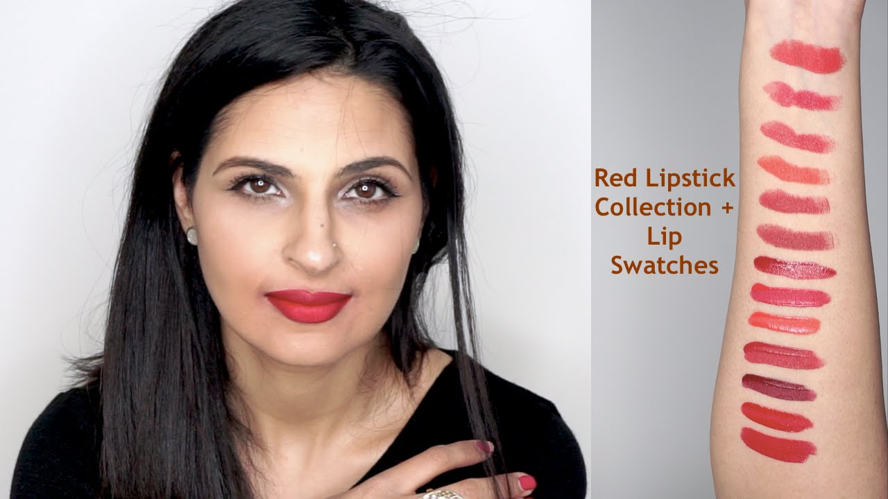 Red Lipstick Collection Lip Swatches Indianbrownasiantanned