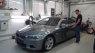 BMW-F10 520d  поднимаем из пепла+дооснащение (автозапуск,NBT,keyless)