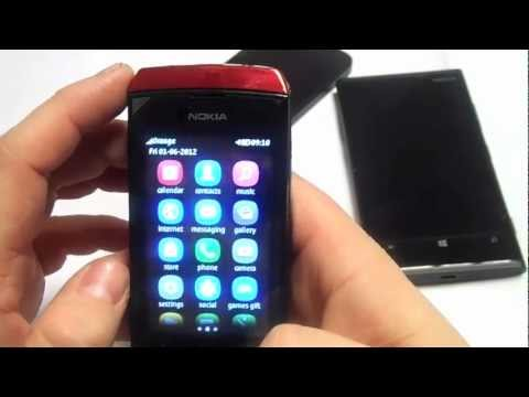The New Nokia Asha 306 in red unboxing & review