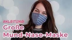 Eine große Mund-Nase-Maske - in wenigen Minuten fertig!