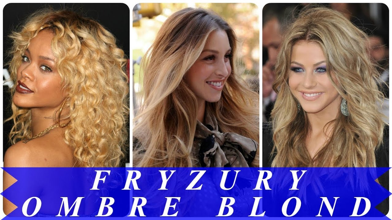 Trendy Fryzury Ombre Na Blond Włosach 2018