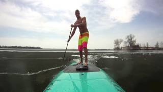 RAVE SUP Rider Alex Linnell Checking Out the Ice