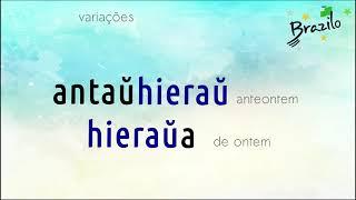 HIERAŬ advérbio em Esperanto