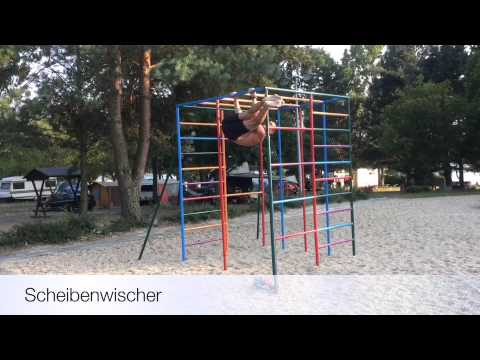 Klettergerüst Training : Fitness training unter freiem himmel
